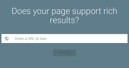 Rich Results Tool for Testing Structured Data
