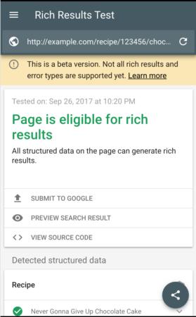 Google's new testing tool