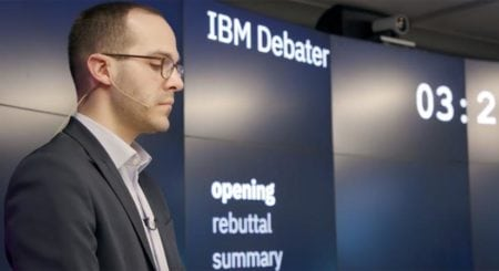 IBM shows off an artificial intelligence that can debate a human